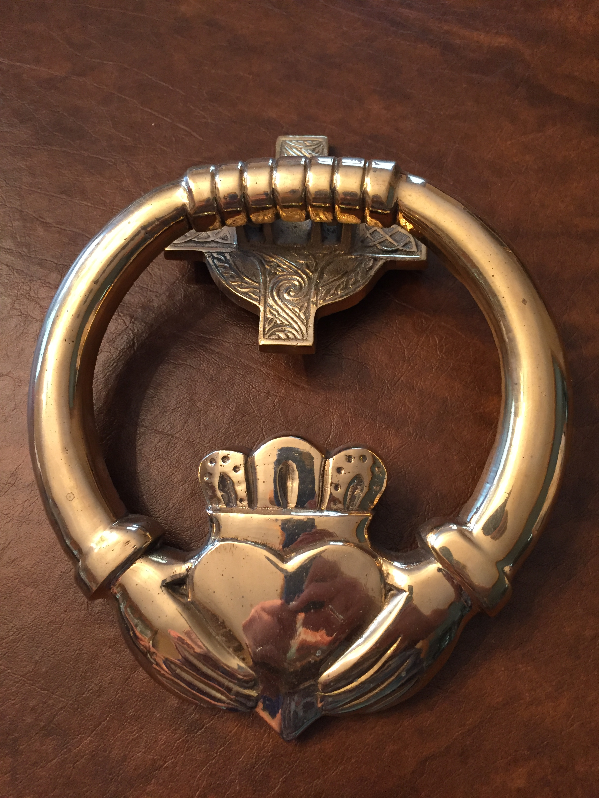 Picture of: Claddagh Brass Door Knocker 4 Kitty S Irish Gifts